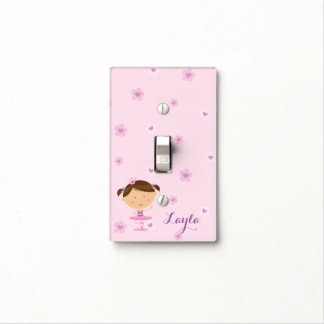 Cute Dancer Ballerina Girl Light Switch Cover