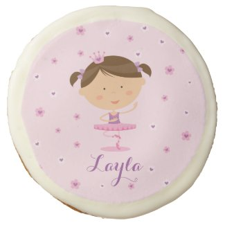 Cute Dancer Ballerina Girl Photo Sugar Cookies