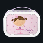 """Cute Dancer Ballerina Girl Yubo Lunchbox<br><div class=""""desc"""">Personalized Yubo Lunchbox featuring a cute dancer ballerina with a floral background. Cute and fun design for special for girls who loves ballet. Custom monogrammed gift. For no personalization,  delete sample text and leave blank.</div>"""