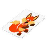 Cute Dancing Cartoon Fox Flexible Magnet