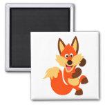 Cute Dancing Cartoon Fox Magnet