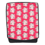 Cute Dancing Cartoon Pig Pattern Backpack