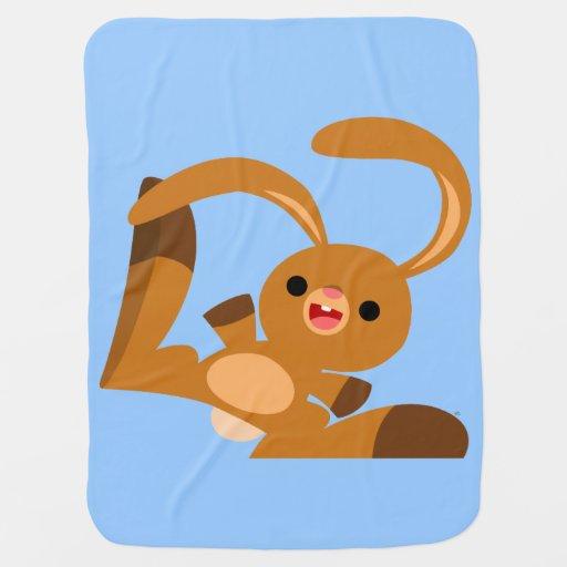 Dancing Babies Cute: Cute Dancing Cartoon Rabbit Baby Blanket