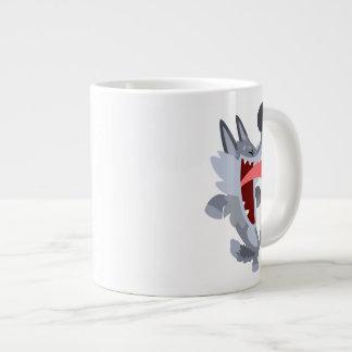 Cute Dancing Cartoon Wolf Jumbo Mug