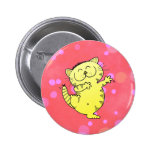 Cute Dancing Cats 2 Inch Round Button