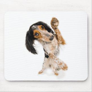 Cute dancing dog mouse pad