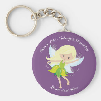 Cute Dancing Fairy Nymph Personalized Keychain