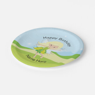 Cute Dancing Fairy Nymph Personalized Paper Plate