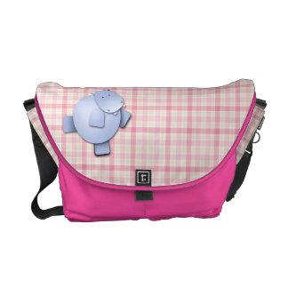 Cute Dancing Hippo Commuter Bags