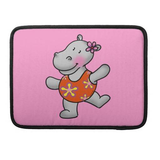 Cute dancing hippo sleeve for MacBooks