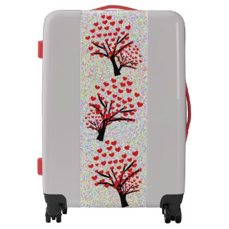 Love Hearts Trees Design Luggage