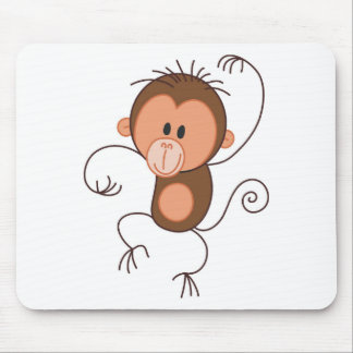 Cute Dancing Monkey Mouse Pad