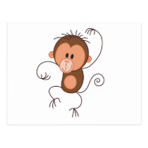 Cute Dancing Monkey Postcard