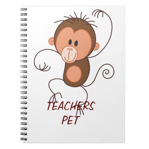 Cute Dancing Monkey Spiral Notebook
