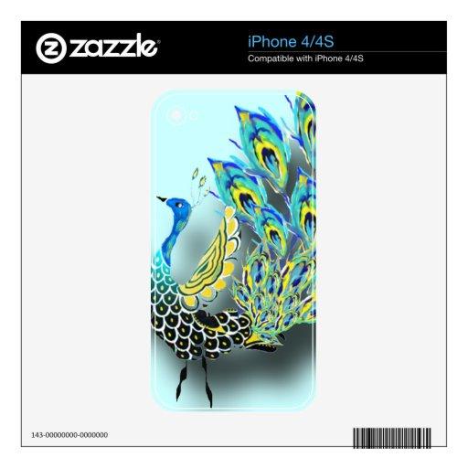 Cute Dancing Peacock skin Skins For iPhone 4