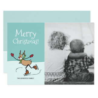Cute Dancing Reindeer - Christmas Card