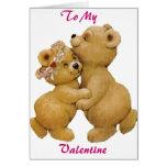 Cute Dancing Teddy Bears Card