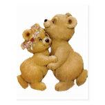 Cute Dancing Teddy Bears Post Cards
