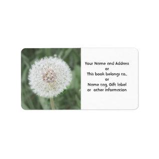 Cute Dandelion Seed Head Label at Zazzle