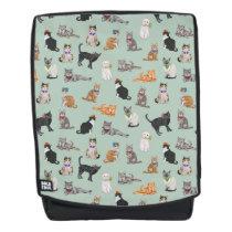 Cute Dapper Kitties Cat Pattern Backpack