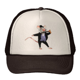 Cute Dapper Mouse, the Dancing Cartoon Mouse Hats