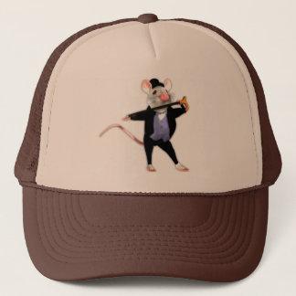 Cute Dapper Mouse, the Dancing Cartoon Mouse Trucker Hat