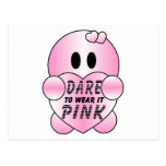 Cute DARE TO WEAR it PINK Character Post Cards