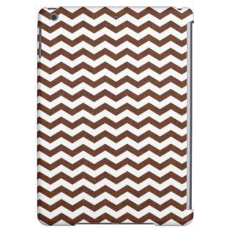 Cute Dark Brown and White Chevron Stripes iPad Air Cases