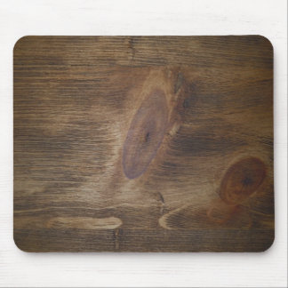 Cute Dark Brown Rustic Wood Look Background Mouse Pad