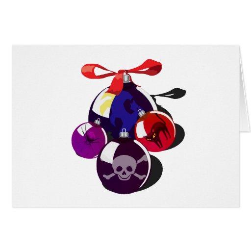 Cute Dark Goth Ornament Pile Cards