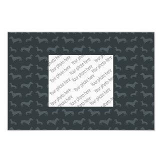 Cute dark gray dachshund pattern photograph