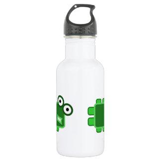 Cute Dark Green Cartoon Monster Water Bottle