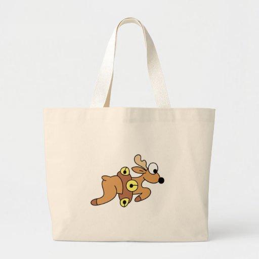 Cute Dashing Christmas Reindeer Jumbo Tote Bag