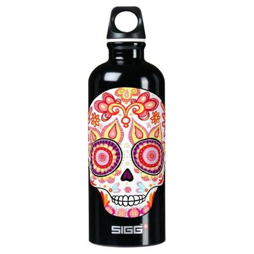 Cute Day of the Dead Sugar Skull SIGG Traveler 0.6L Water Bottle