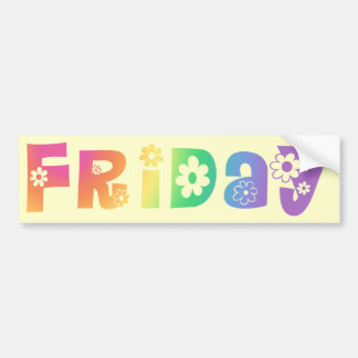 Cute Day Of The Week Friday Bumper Sticker