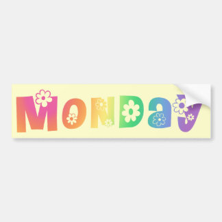 Cute Day Of The Week Monday Bumper Sticker