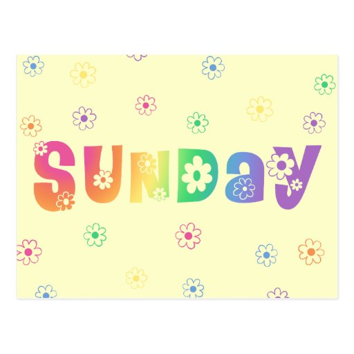 Cute Day Of The Week Sunday Postcard