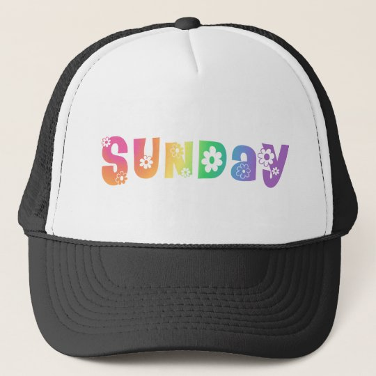 Cute Day Of The Week Sunday Trucker Hat