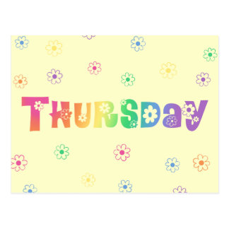Cute Day Of The Week Thursday Postcard