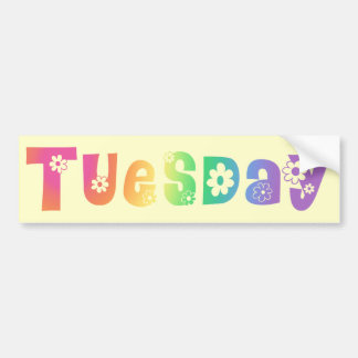 Cute Day Of The Week Tuesday Bumper Sticker