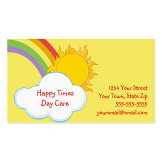 Cute Daycare Rainbow Business Cards