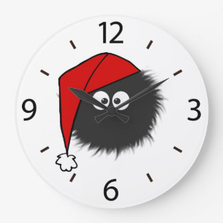Cute Dazzled Bug Christmas Large Clock