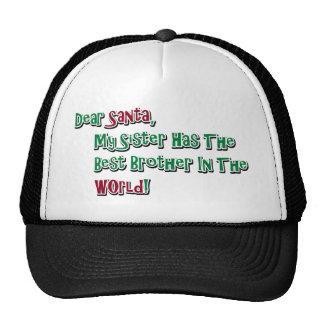 Cute Dear Santa Brother Saying Trucker Hats