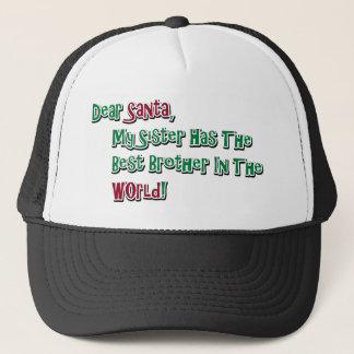 Cute Dear Santa Brother Saying Trucker Hat