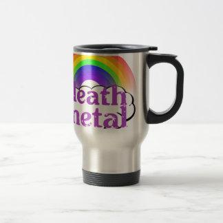 Cute Death Metal Rainbow 15 Oz Stainless Steel Travel Mug