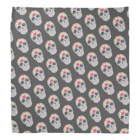 Cute decorated Skull Print Bandanna