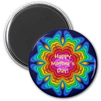 Cute decorative fantasy flower Mother's day magnet