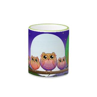 Cute decorative Full Moon Owls Mug