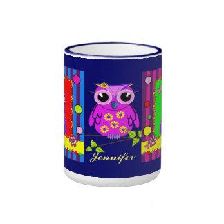 Cute decorative Owls and Name mug