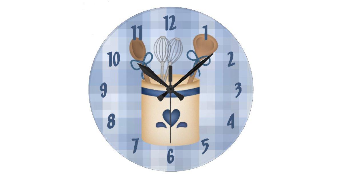 decorative square kitchen wall clock zazzle
